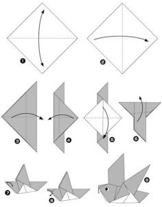 Origami Duif